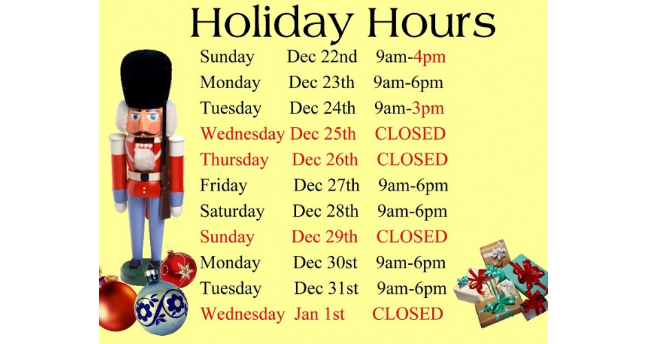 holiday hours new
